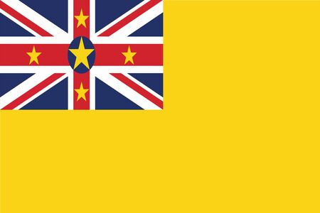 niue: Flag of Niue. Vector illustration.