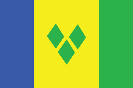 grenadines: Flag of Saint Vincent and the Grenadines. Vector illustration.