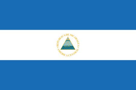 nicaragua: Flag of Nicaragua. Vector illustration.