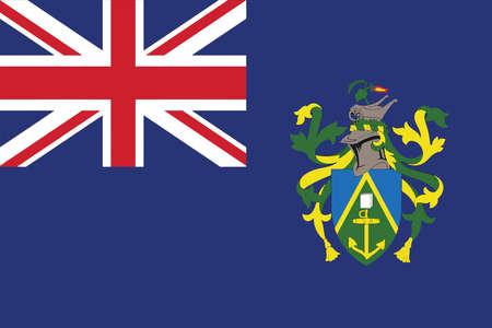 pitcairn: Flag of Pitcairn Islands. Vector illustration. Illustration