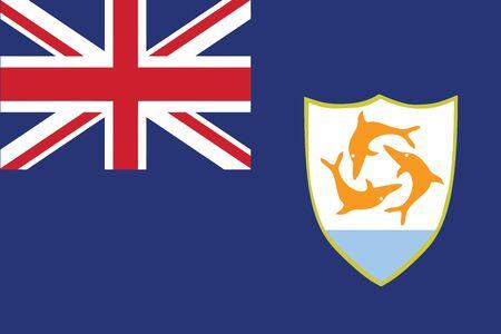 anguilla: Flag of Anguilla. Vector illustration. Illustration