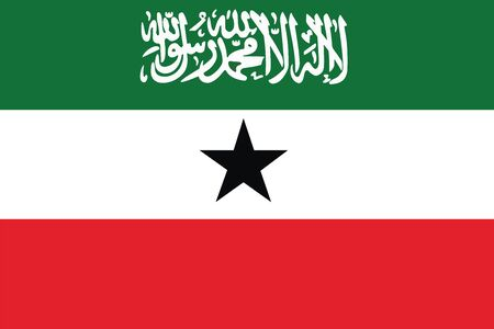 somaliland: Flag of Somaliland. Vector illustration. Illustration