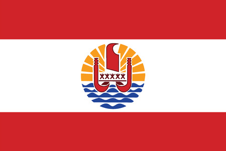 polynesia: Flag of French Polynesia. Vector illustration. Illustration