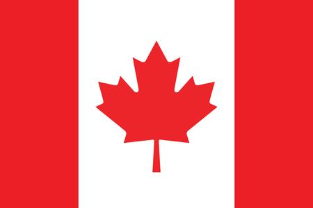 Bandera de Canadá. Ilustración del vector.