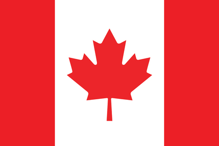Drapeau du Canada. Vector illustration.