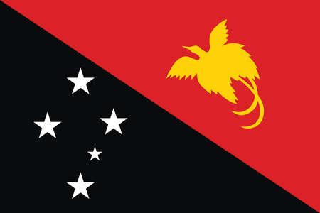 papua: Flag of Papua New Guinea. Vector illustration.
