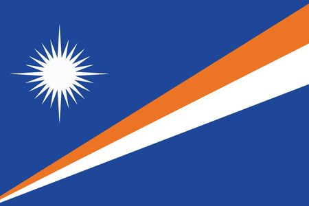 marshall: Flag of Marshall Islands. Vector illustration.