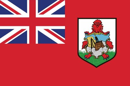 bermuda: Flag of bermuda. Vector illustration. Illustration