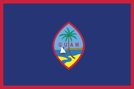 guam: Flag of Guam. Vector illustration. Illustration