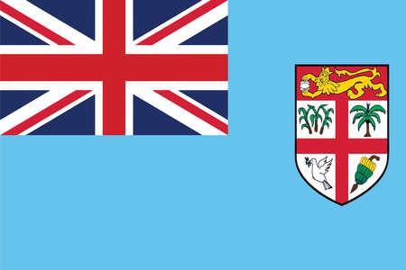 fiji: Flag of Fiji Island. Vector illustration.