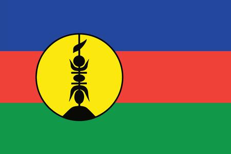 orange county: Flag of New Caledonia. Vector illustration.