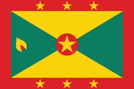 grenada: Flag of Grenada. Vector illustration. Illustration