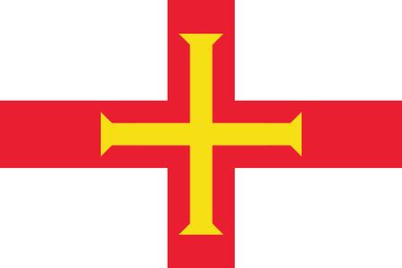 guernsey: Flag of Guernsey. Vector illustration.