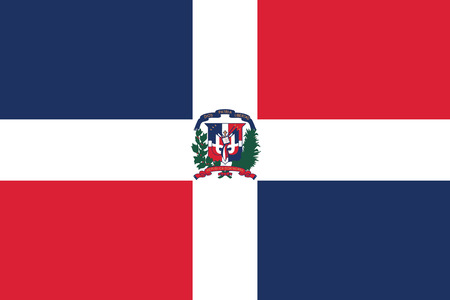 dominican: Flag of the Dominican Republic. Vector illustration.