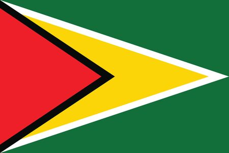 guyana: Flag of Guyana. Vector illustration. Illustration