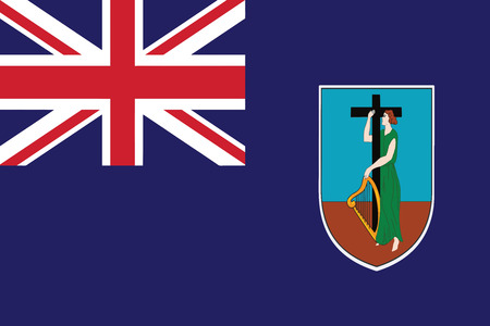 montserrat: Flag of Montserrat. Vector illustration. Illustration