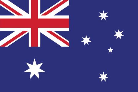 bandiera inglese: Flag of Australia. Illustrazione vettoriale. Vettoriali