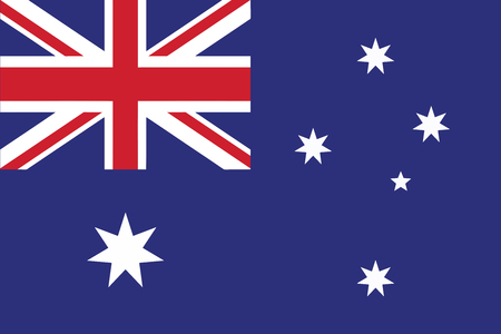 Flag of Australia. Vector illustration.