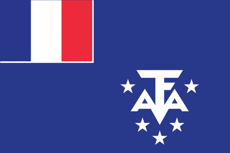 antarctic: Flag of French Southern Territories and Antarctic Lands. Vector illustration. Illustration