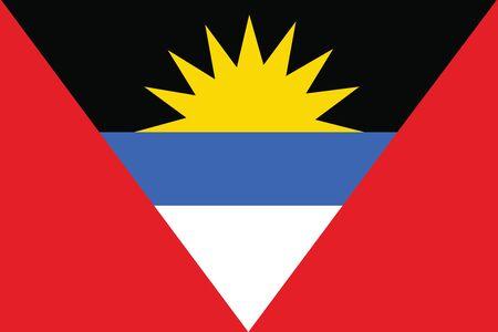 antigua and barbuda: Flag of Antigua and Barbuda. Vector illustration. Illustration