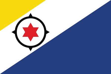 goverment: Flag of Bonaire. Vector illustration.