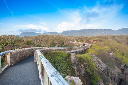 west  coast: Punakaki Pancake Rocks in Paparoa National Park, West Coast, South Island, New Zealand Stock Photo