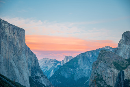 Typical view of the Yosemite National Park. Stock Photo