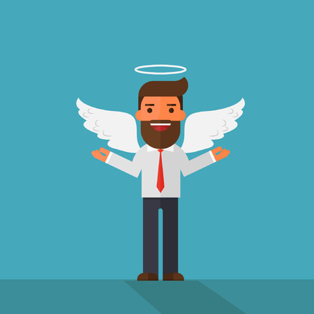 Angel businessman character