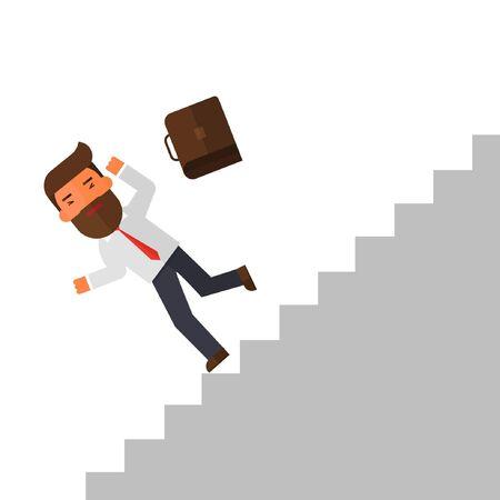 slip homme: businessman fall down