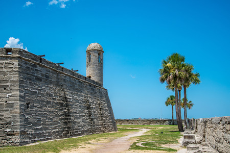 St. Augustine, Florida at the Castillo de San Marcos National Monument. Editorial