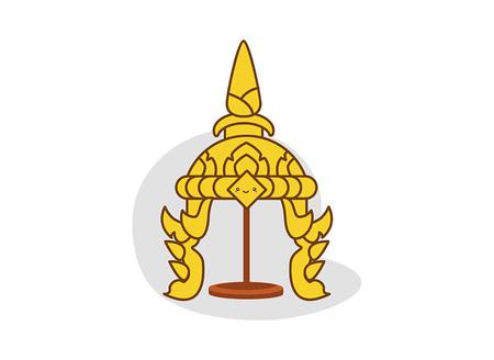 religious clothing: Vector illustrator traditional thai headdress Illustration