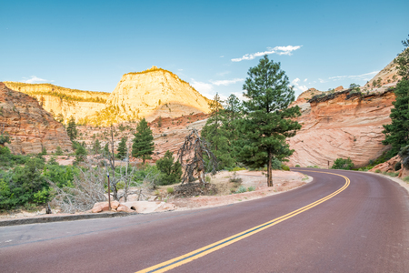 Scenic drive in Zion national park Utah