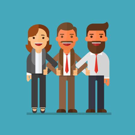 Business company partners Illusztráció