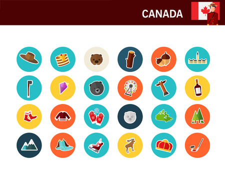 Canada concept flat icons