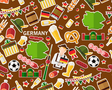Vector flat seamless texture pattern Germany Illustration