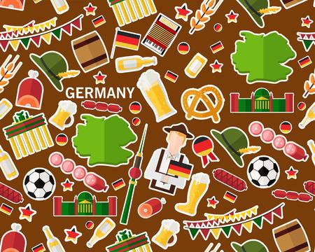 Vektor flache nahtlose Muster Muster Deutschland Standard-Bild - 95825945