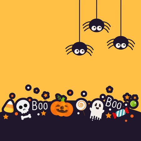 Halloween-Hintergrund mit Spaßart