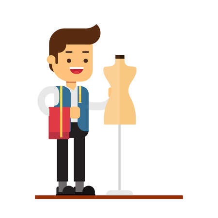 Man character avatar icon.a tailor man