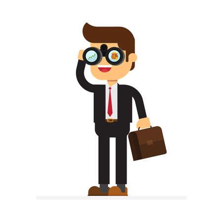 Businessman Looking for money Vector Illustratie