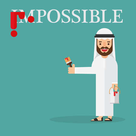 Arab businessman unwanted words is impossible