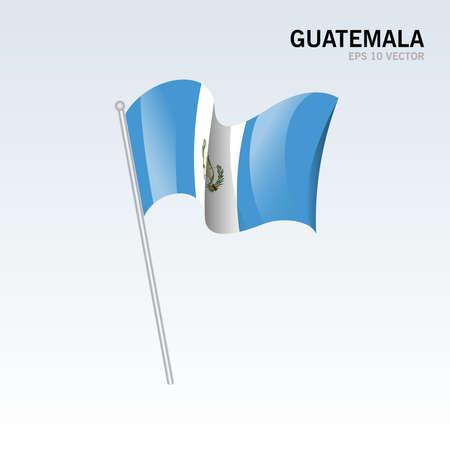 Guatemala waving flag isolated on gray background