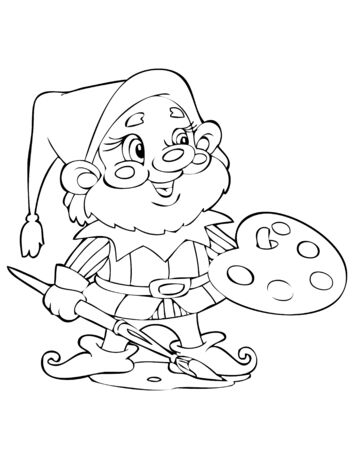 Illustration of the amusing gnome Vector