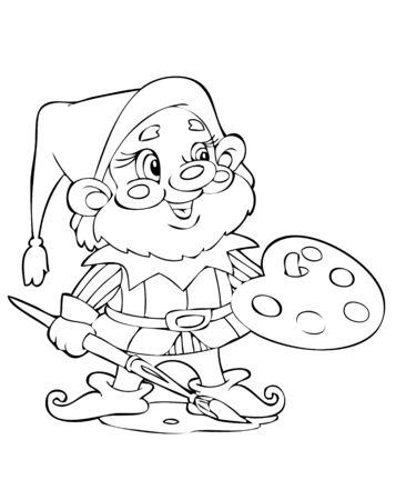 enano: Ilustraci�n de la divertida gnome