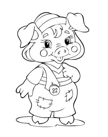 joyous life: Illustration of the amusing pig