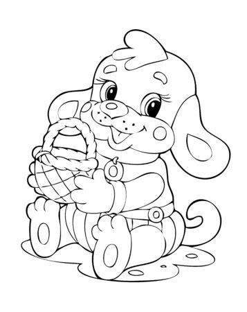 dog gift: illustration of the little beautiful dog