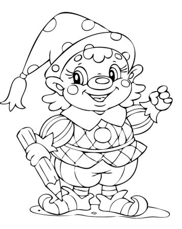 illustration of the amusing clown actor Vector