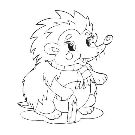 Illustration  of the beautiful hedgehog Иллюстрация