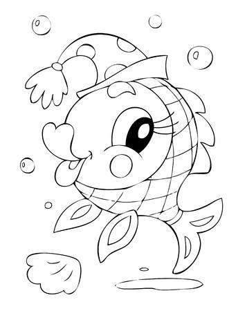 amusant: Illustration du poisson amusante Illustration