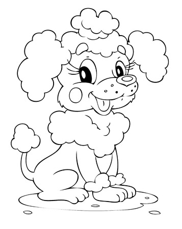Illustration of the amusing dog Vector