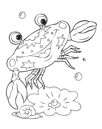 Illustration of the amusing crab Vector
